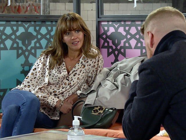 Maria on Coronation Street's second episode on October 12, 2020