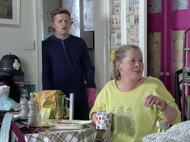 Bernie and Chesney on the first episode of Coronation Street on October 19, 2020