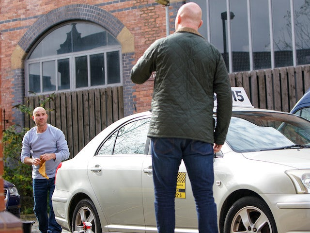 Tim on the first episode of Coronation Street on October 19, 2020