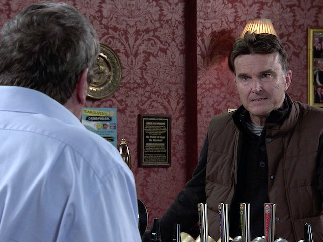 Scott on the first episode of Coronation Street on October 23, 2020