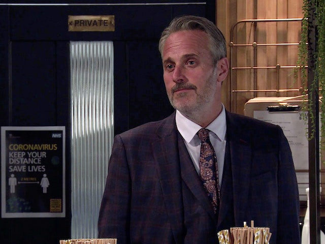 Ray on the second episode of Coronation Street on October 19, 2020