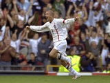 David Beckham scores his famous free-kick goal for England against Greece on October 6, 2001