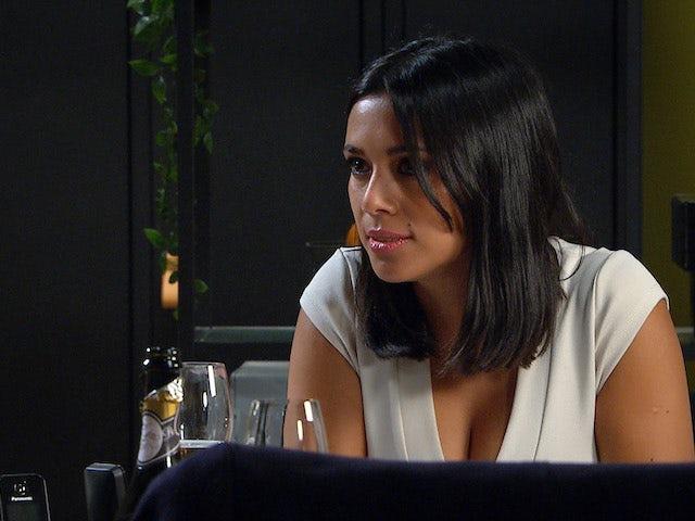Priya on the second episode of Emmerdale on October 29, 2020