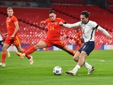 England's Jack Grealish in action against Wales in an international friendly on October 8, 2020