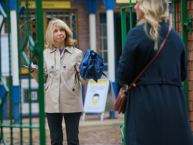 Gail on the first episode of Coronation Street on October 21, 2020