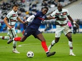 France's Paul Pogba in action with Portugal's Danilo Pereira in the Nations League on October 11, 2020