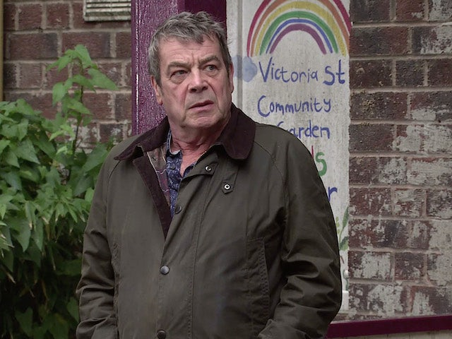 Johnny on Coronation Street's second episode on October 14, 2020