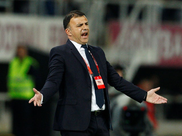 North Macedonia manager Igor Angelovski pictured in October 2019