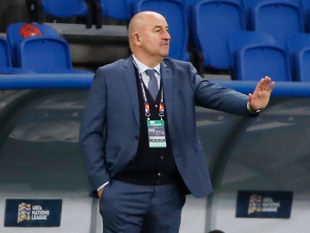 Russia manager Stanislav Cherchesov pictured in September 2020