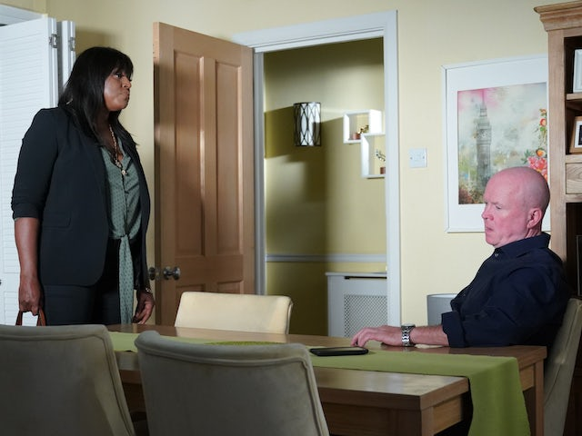 Ellie and Phil on EastEnders on October 16, 2020