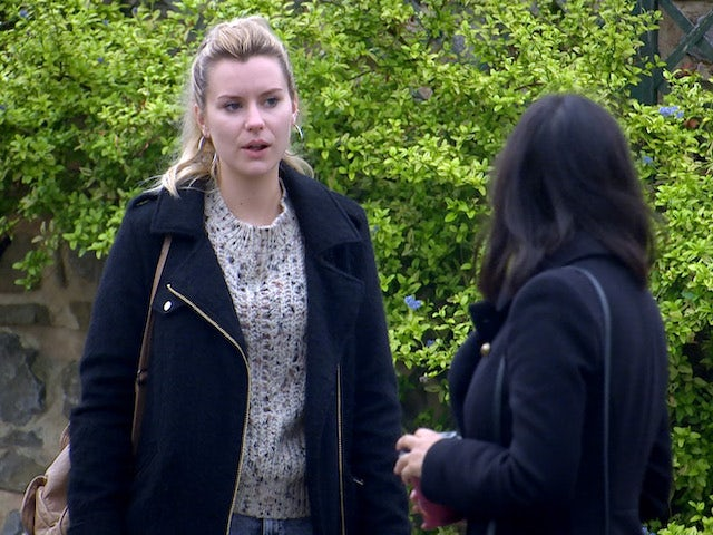 Dawn and Priya on the first episode of Emmerdale on October 29, 2020
