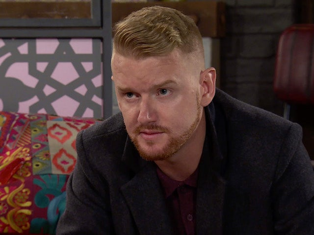 Gary on Coronation Street's second episode on October 12, 2020