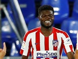 Thomas Partey pictured for Atletico Madrid in July 2020