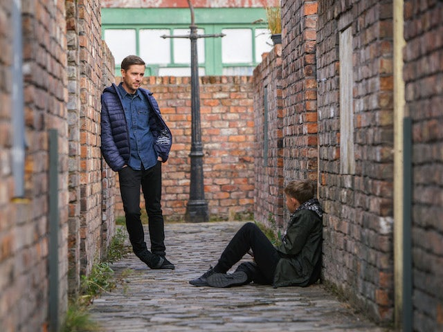 Todd on the second episode of Coronation Street on October 23, 2020
