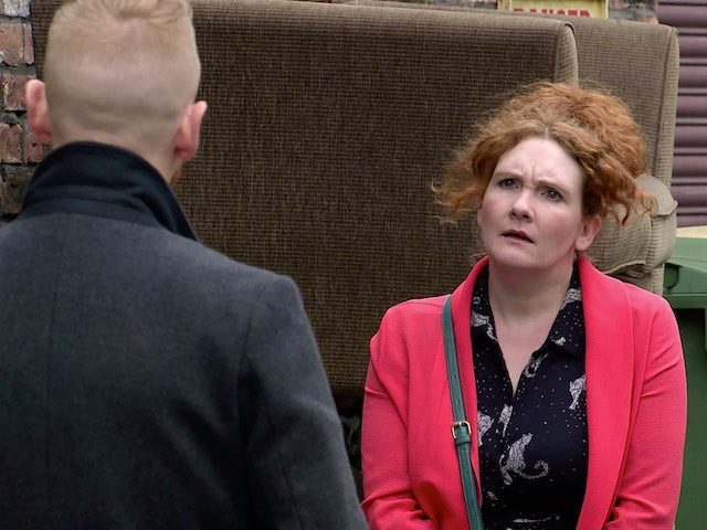 Fiz on Coronation Street's first episode on October 12, 2020
