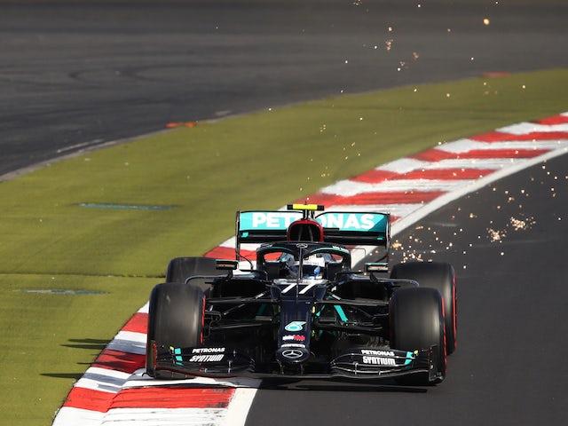 Mercedes driver Valtteri Bottas in action during qualifying for the Eifel Grand Prix