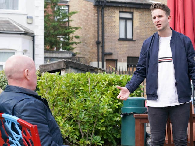 Callum on EastEnders on October 19, 2020