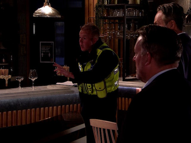 Craig on the second episode of Coronation Street on October 26, 2020
