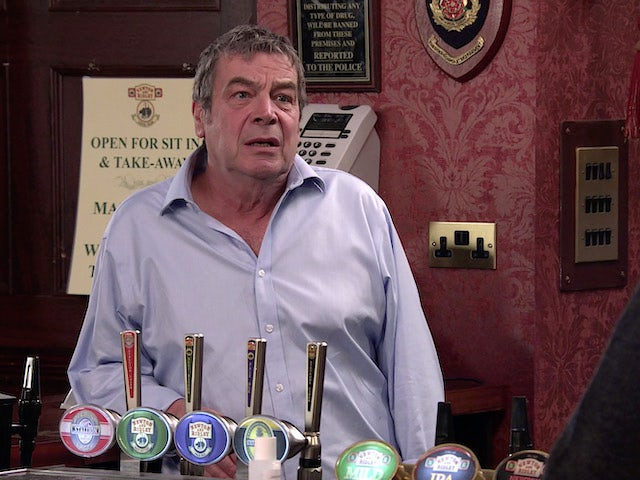 Johnny on the first episode of Coronation Street on October 23, 2020