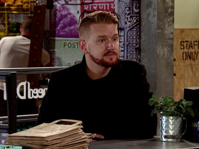 Gary on the first episode of Coronation Street on October 26, 2020