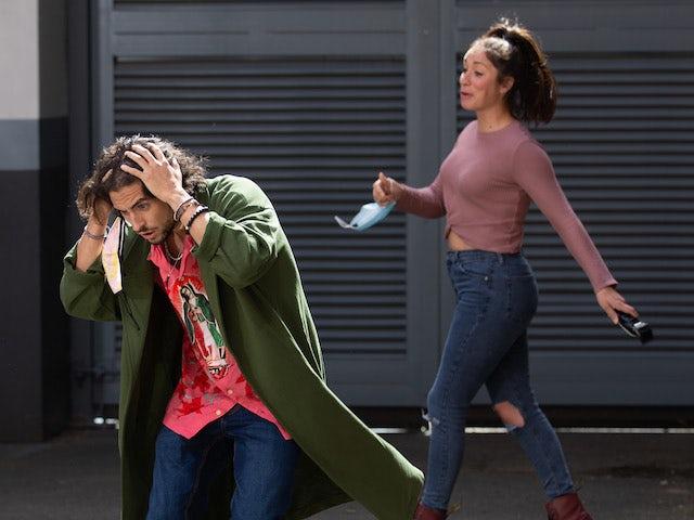 Shona chops off a model's topknot on Coronation Street on October 16, 2020