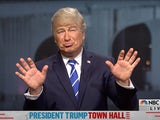 Alec Baldwin appears as Donald Trump on SNL on October 17, 2020