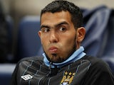 Carlos Tevez pictured during his time at Manchester City in September 2011