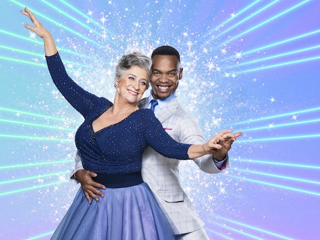 Caroline Quentin and Johannes Radebe on Strictly Come Dancing 2020