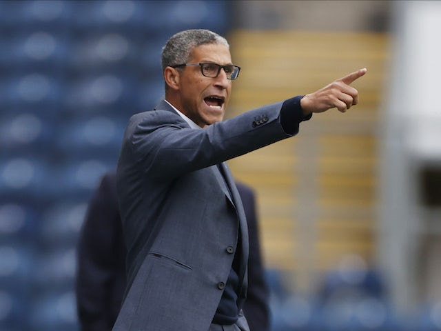 Chris Hughton pictured in charge of Nottingham Forest on October 17, 2020