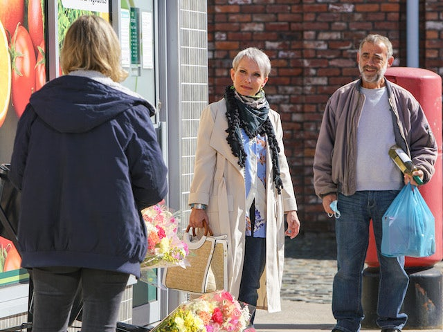 Debbie, Kevin and Abi on the first episode of Coronation Street on November 2, 2020