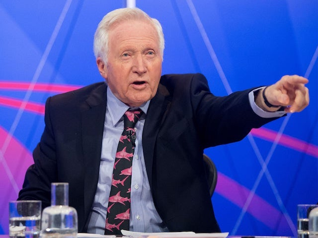 David Dimbleby in his Question Time pink shark tie pomp