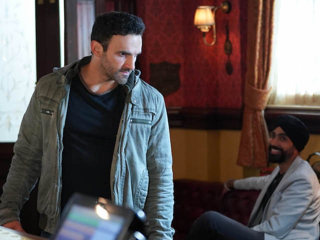 Kush and Kheerat on EastEnders on October 29, 2020