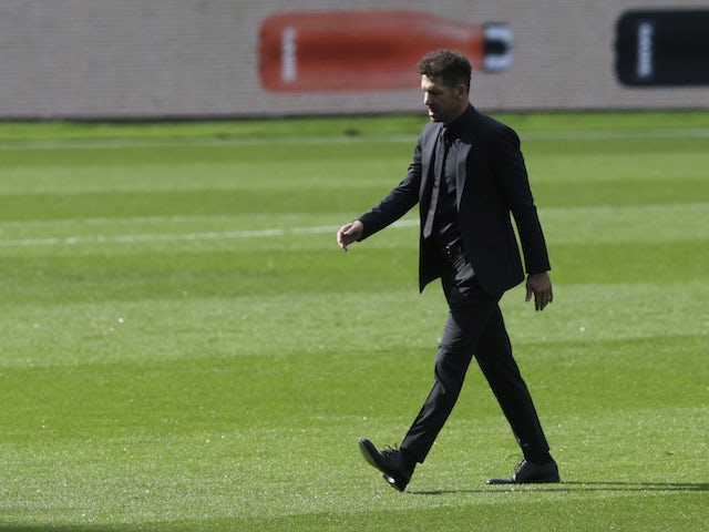 Atletico Madrid manager Diego Simeone pictured on October 17, 2020