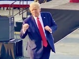 Donald Trump dancing to YMCA on October 17, 2020