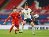 England's Kalvin Phillips in action with Wales' Dylan Levitt in the UEFA Nations League on October 8, 2020