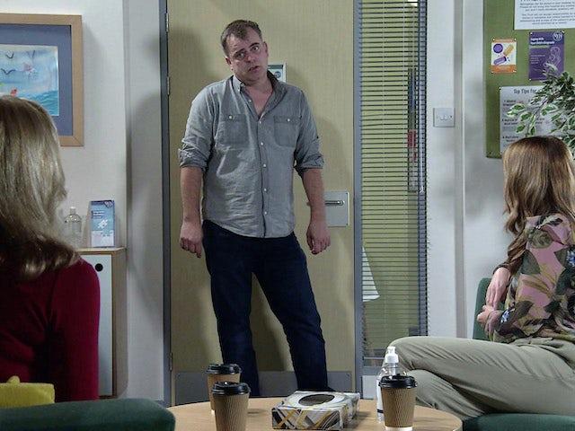 Steve on the first episode of Coronation Street on November 4, 2020