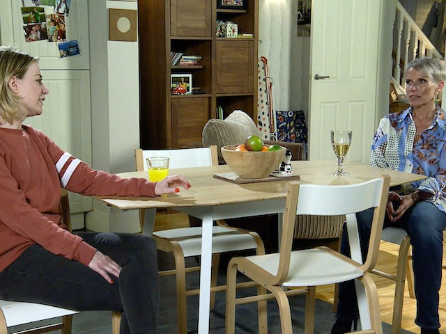Abi and Debbie on the second episode of Coronation Street on November 2, 2020