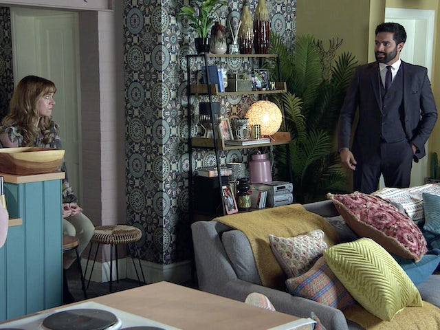Toyah and Imran on the second episode of Coronation Street on November 4, 2020