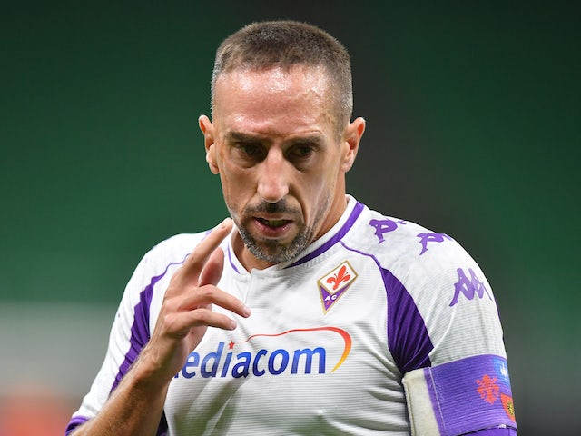 Franck Ribery in action for Fiorentina in September 2020