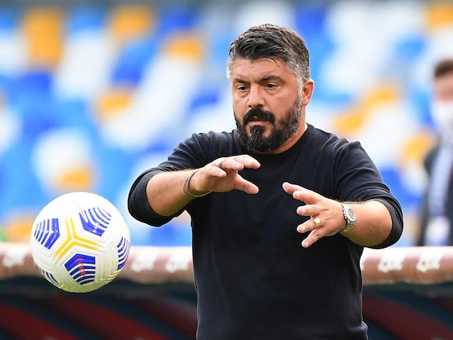 Napoli head coach Gennaro Gattuso pictured on October 17, 2020