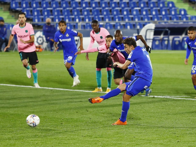 Result: Jaime Mata scores winner as Getafe overcome Barcelona