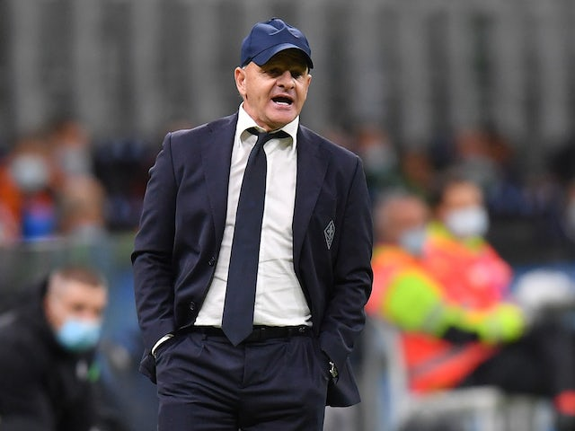 Fiorentina head coach Giuseppe Iachini pictured in September 2020