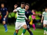 Celtic's Hatem Abd Elhamed in Europa League action against Lazio's Jony on October 24, 2019