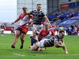 A general shot of Leeds Rhinos vs. Salford Red Devils in August 2020