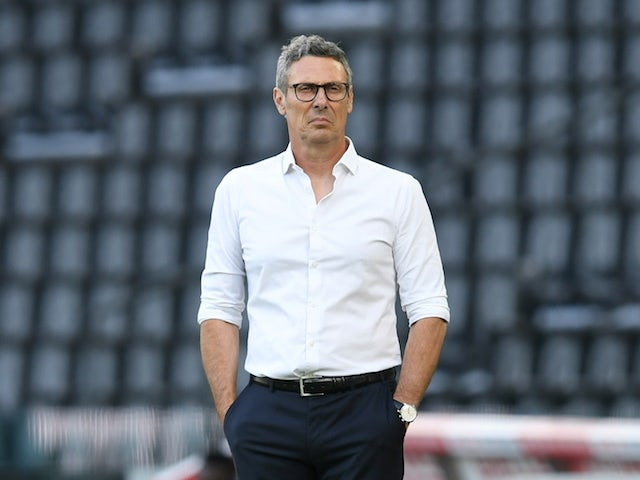 Udinese manager Luca Gotti pictured in July 2020