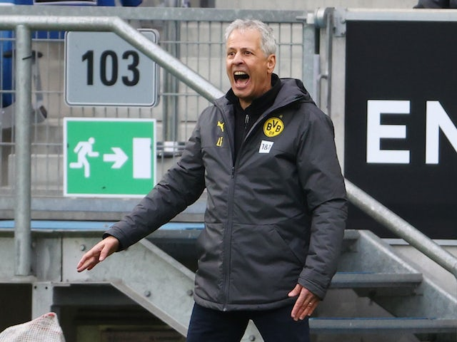 Borussia Dortmund head coach Lucien Favre pictured on October 17, 2020