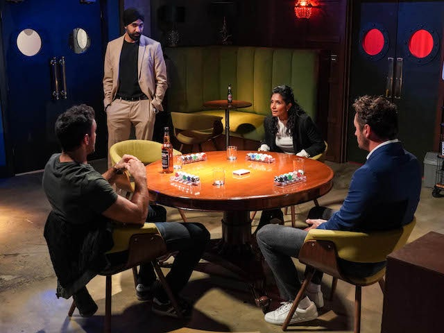 The poker game on EastEnders on October 30, 2020