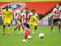 Sheffield United's Billy Sharp equalises against Fulham in the Premier League on October 18, 2020
