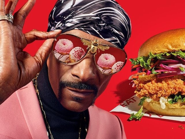 Snoop Dogg in his Just Eat pomp