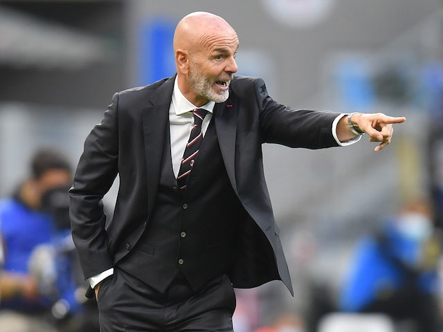 AC Milan manager Stefano Pioli pictured on October 17, 2020